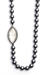 Women's St. John Collection Swarovski Crystal And Glass Pearl Rope Necklace