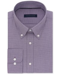 Tommy Hilfiger Men's Classic Regular Fit Dress Shirt Wine