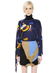 J.W.Anderson Printed Viscose Jersey Top