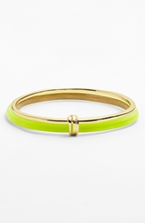 Alexis Bittar 'Lucite Liquid Metal' Paired Bangle Neon Yellow