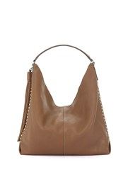 Mint Velvet Tan Devon Studded Tote Brown