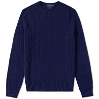 Polo Ralph Lauren Cashmere Cable Knit Blue