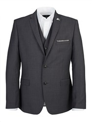 Lambretta Slim Textured Grey Three Piece Suit