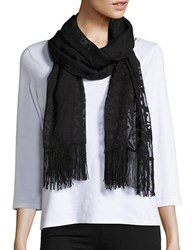 Cejon Textured Wrap Scarf Black