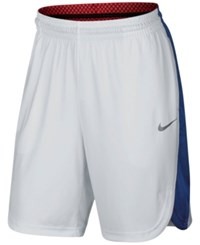 Nike Men's Elite Lift Off Basketball Shorts White Deep Royal Blue