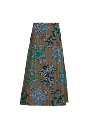 Marni Fleuri Scroll Print Midi Skirt