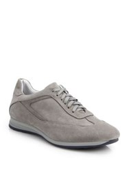 Saks Fifth Avenue Suede Lace Up Sneakers