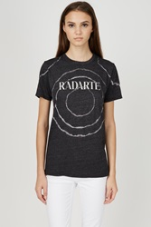 Rodarte Foil Tie Dye T Shirt Heather Black