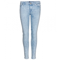 7 For All Mankind The Skinny Crop Jeans Moonrise Bleach