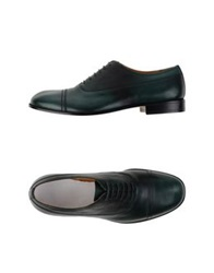 Maison Martin Margiela Maison Margiela 22 Lace Up Shoes Emerald Green