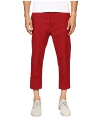 Vivienne Westwood James Bond Stretch Cotton Cropped Trousers Red