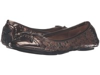 Anne Klein Buttons Bronze Multi Snake Women's Flat Shoes Animal Print
