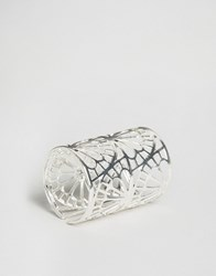 Ny Lon Nylon Cut Out Ring Silver