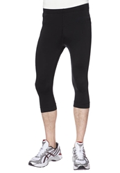 Odlo Active Run Tights 3 4 3 4 Sports Trousers Black