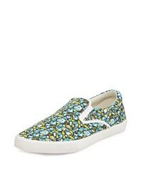 Bucketfeet Earth Canvas Slip On Sneaker Green