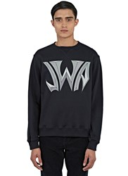 J.W.Anderson New Logo Print Crew Neck Sweater Black