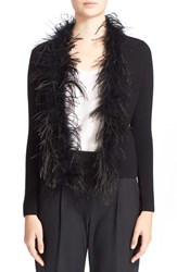 Women's Milly 'Maribou' Feather Cardigan