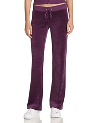 Juicy Couture Sport Black Label Original Flare Velour Pants In Aubergine 100 Bloomingdale's Exclusive Aubergine Dark Purple