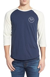 Men's Brixton 'Wheeler' Three Quarter Raglan Baseball T Shirt