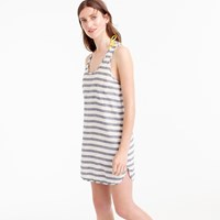 J.Crew Cotton Linen Racerback Tunic In Stripe