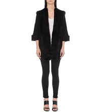 French Connection Whistler Faux Fur Detail Cardigan Black