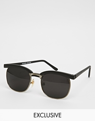 Reclaimed Vintage Clubmaster Sunglasses Black
