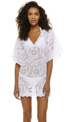 Vix Swimwear Lace Beach Caftan White