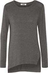 Lna Niia Stretch Modal Top Gray