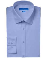 Vince Camuto Slim Fit Pincord Solid Dress Shirt Blue