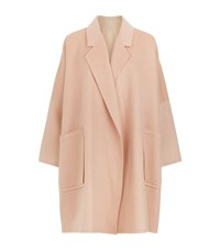 Helmut Lang Oversized Wool Cashmere Cape Coat Female Pink