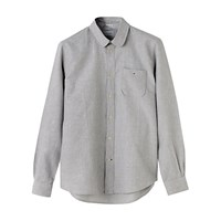 Jigsaw Round Collar Shirt Grey Melange