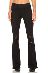 Pam And Gela Destroyed Flare Track Pant Black