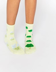 Asos Broccoli And Green Smoothie Socks Mint