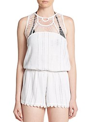 Rip Curl City Lights Short Jumpsuit White