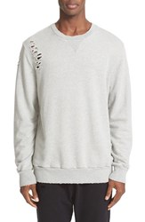 Drifter Men's 'Brendan' Destroyed Sweatshirt Heather Grey