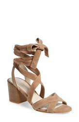 Kenneth Cole Women's New York 'Victoria' Leather Ankle Strap Sandal Cafe Suede