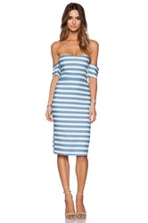 Line And Dot Inez Strapless Dress Blue
