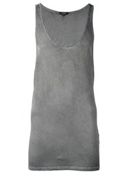 Unconditional Long Tank Top Grey