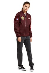 Alpha Industries For Opening Ceremony Ma 1 Flex Slim Fit Jacket Maroon