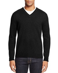 Bloomingdale's The Men's Store At Cashmere V Neck Sweater Black