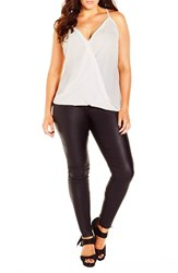 Plus Size Women's City Chic 'Chain X Over ' Camisole Top