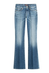 7 For All Mankind Seven For All Mankind Distressed Bootcut Jeans Blue