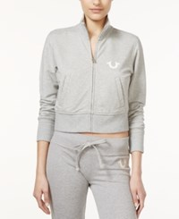 True Religion Zip Front Cropped Track Jacket
