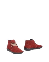 Pikolinos High Top Dress Shoes Brick Red