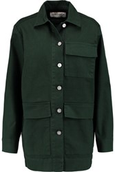 Etre Cecile Printed Cotton Blend Jacket Army Green