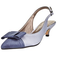 John Lewis Dorchester Bow Slingback Court Shoes Dusk Blue