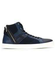 Hogan Rebel Zipped Hi Top Sneakers Blue