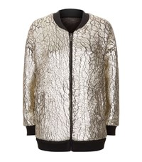 Pinko Metallic Bomber Jacket Female Multi