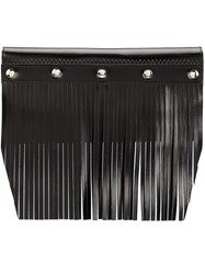 Comme Des Garcons Wallet Large Fringed Studded Wallet Black