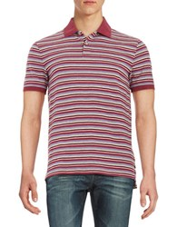 Black Brown Striped Polo Shirt Pomegranate